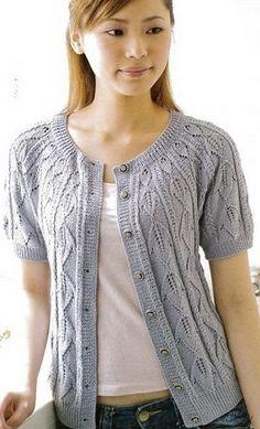 Вязание спицами - короткий жакетик