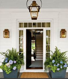 I want a clear glass door, love this entrance way..