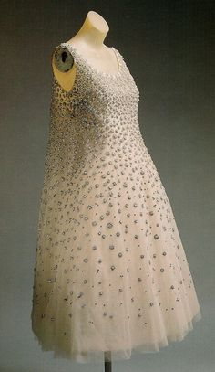 1958 evening dress, christian dior by yves st. laurent. by eileen