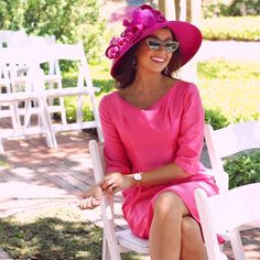 All pink for Derby Top To Toe, Kentucky Derby Hats, Dressing, Pink, Outfits, Projects, Ideas, Fashion, Wedding