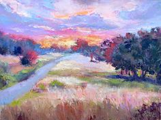 Where ART Lives Gallery Artists Group Blog: Saucy Sunrise, New Contemporary Landscape Painting...