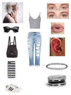 """""""Shopping @ the Mall"""" by xoxosuzy ❤ liked on Polyvore featuring Glamorous, Genetic Denim, adidas Originals, Kate Spade, rag & bone, Benefit, Sephora Collection and GUESS"""