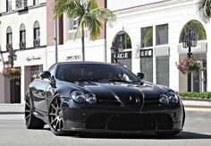 Blacked out Benz sports car!