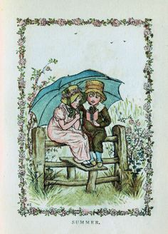 Antique Images: Free Antique Clip Art: Four Seasons Illustrations from 1883 Almanack