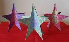 Christmas Star Ornaments These ornaments have been designed so the tiki image will look complete once the bits have been put together. Christmas Star, Christmas Ornaments, Star Ornament, Holiday Decor, Holiday Ideas, Arts And Crafts, Stars, Image, Classroom