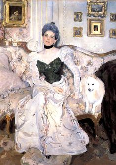 portrait of princess zinaida yusupova 1900 2 XX the russian museum st petersburg russia of valentin serov is the most popular among connoisseurs of art. Oil On Canvas, Canvas Art, Ilya Repin, Le Palais, Oil Painting Reproductions, Art Moderne, Russian Art, Russian Painting, Old Art