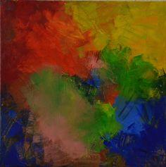 Wunderschöne Farbenbild mit fröhlichen Regenbogenfarben - Größe: 40x40 cm - Copyright: Elfensteins