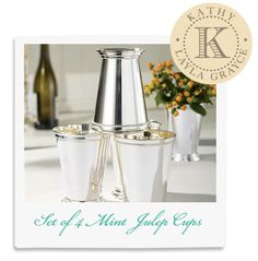 Kathy's Fave! Set of 4 Mint Julep Cups @LaylaGrayce #laylagrayce #lgstaff #home