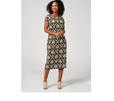 Ronni Nicole Short Sleeve Puff Print Dress - 179360 Qvc Uk, Ronni Nicole, Just Shop, Two Piece Skirt Set, Short Sleeves, Chic, Elegant, Skirts, High Heels