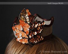 vintage leaf newborn crown