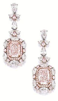 beautiful pink diamond earrings - Prissy~Sassy~Chic ❤