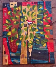 Some you may know of my love for Hundertwasser. This is my take on his famous tree. Painting number 4.