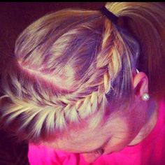 Fishtail french braid!;)