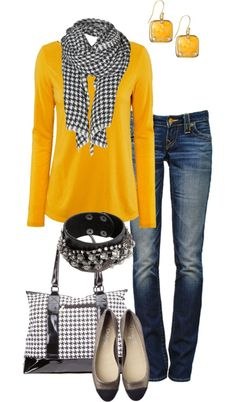 If yellow is not your color, placing the scarf next to your face will keep the shirt from casting an unpleasant hue. (scheduled via http://www.tailwindapp.com?utm_source=pinterest&utm_medium=twpin&utm_content=post740371&utm_campaign=scheduler_attribution)
