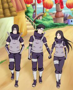 Uchiha ANBU Team. Shisui with Itachi's girl
