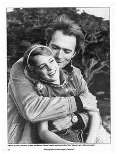 Clint with his daughter, Alison, on the set of TIGHTROPE in 1984. Alison was 12 years old at the time. Found on Facebook