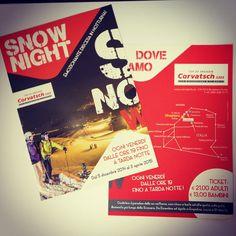 Nuovi lavori per Corvatsch Svizzera. www.gallweb.it #flyer#snownight@#gallweb