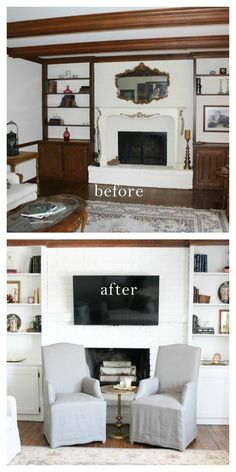 Learn how to update book cases  cabinetry  see this incredible before  after!