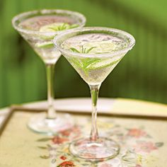 Bruising, or partially crushing, the verbena helps draw out its essential oils. Substitute vodka for gin, if you prefer. If you make this cocktail ahead, stir in club soda just before serving so the drink stays fizzy. Gimlet Cocktail, Cocktail Drinks, Cocktail Recipes, Drink Recipes, Cocktail Shaker, Cocktail Ideas, Bacardi Drinks, Martini Recipes, Cocktail Glass