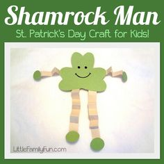 You might need to assist younger ones with this Craft Project, but Shamrock Man is too cute not to try!