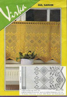 Crochet Curtain Patterns Part 3 - Beautiful Crochet Patterns and Knitting Patterns Crochet Curtain Pattern, Crochet Curtains, Lace Curtains, Diy Crochet Tablecloth, Crochet Doilies, Thread Crochet, Crochet Geek, Knit Crochet, Crochet Decoration