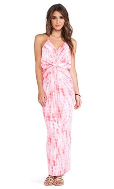 bf53a146cc5 Shop for T-Bags LosAngeles Knot Front Maxi Dress in Neon Coral Tie Dye at  REVOLVE.