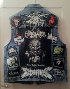 corbakurban's Venom, Darkthrone, Sodom, My jacket Battle Jacket Black Metal, Heavy Metal, Battle Jacket, Venom, Tank Man, Music, Mens Tops, How To Wear, Jackets