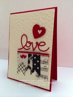 Valentine's Day Stamping Up card...lots of banners! By Jan McQueen