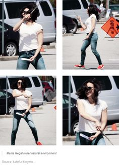 Lana Parrilla, behind the scenes. OUaT S5 - Conduct for your life!