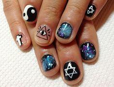 56 Best Grunge Nail Art Images On Pinterest Fingernail Designs