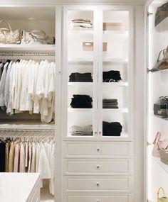 60 New Ideas For Small Closet Lighting Ideas Cabinets Best Closet Organization, Wardrobe Organisation, Organization Ideas, Tiny Closet, Dream Closets, White Closet, Open Closets, Walk In Closet Design, Closet Designs