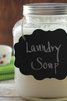 A homemade liquid laundry soap that actually works! Make your own homemade liquid laundry soap you can feel good about. Simple ingredients make this soap easy.