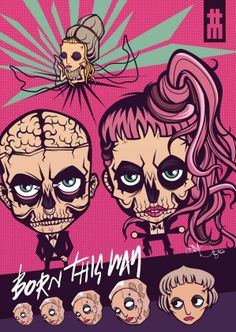 Lady Gaga | Born This Way by Da Morgue, via Behance