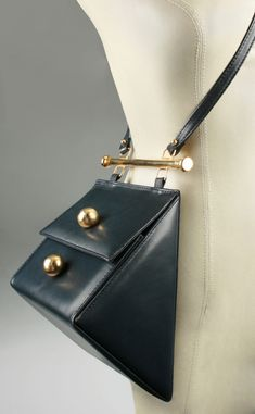 Vintage and Designer Shoulder Bags - For Sale at : Architectural Triangle Shoulder Bag image 2 Cheap Purses, Cheap Handbags, Tote Handbags, Purses And Handbags, Leather Handbags, Luxury Handbags, Cheap Bags, Handbags Online, Trendy Purses