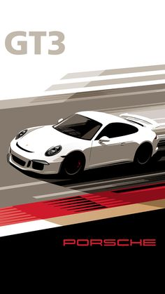 Porsche GT3 Retro looking poster designs by Porsche to attract a new generation of fans on Instagram and Mobile.