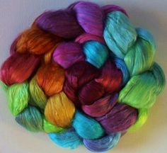 Hand Dyed Mulberry silk brick 36ozs India by FiberArtemis on Etsy, $36.00