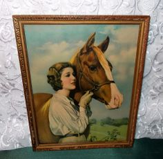 Loretta Young with Arabian Horse by Adelaide Hiebel - In the Land of Sunshine