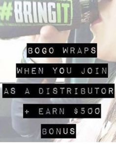 Last day Today is the last day to earn BOGO wraps when you become a distributor. That's $200 worth of wraps FREE! What are you waiting for? #BOGO #free #join #work #parttimework #earnmoney #freestuff #freeproduct #lookingforajob #greatpayingjob #workfromhome #workfromyourcellphone #wahm #workfromhome #thebestjob #networking #sales #networkmarketing #lovenetworkmarketing http://www.australiaunwrapped.com/