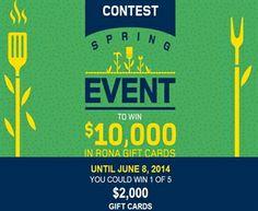 Rona Spring Event Contest