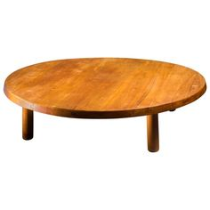 Pierre Chapo Large and Low Elm T02 Coffee Table, France, 1970s | From a unique collection of antique and modern coffee and cocktail tables at https://www.1stdibs.com/furniture/tables/coffee-tables-cocktail-tables/