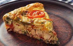 Chicken and veggie frittata https://www.prevention.com/eatclean/11-easy-dinners-with-rotisserie-chicken/slide/3
