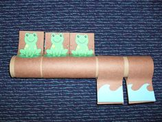 Tube Story: Five Green and Speckled Frogs librarian vs storytime Preschool Music, Preschool Literacy, Kindergarten Math, Toddler Activities, Preschool Activities, Activities For Kids, Frog Crafts Preschool, Pond Crafts, Therapy Activities