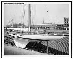 Shamrock III in dry dock [at Erie Basin], Aug. 17 '03