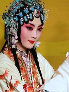 Beautiful head dress and make up Beijing Opera