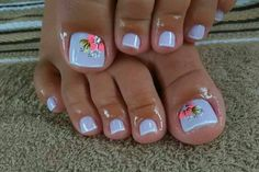 50 + cute toenails art for the summer - Page 31 of 50 - LoveIn Home - - 50 + cute toenails art for the summer – Page 31 of 50 – LoveIn Home Pretty Nails Zehennägel, Fußkunst, Zehennageldesign, sommerliche Zehennagelideen. Pretty Toe Nails, Cute Toe Nails, Fancy Nails, Trendy Nails, Gel Toe Nails, Gel Toes, Toe Nail Polish, Acrylic Toe Nails, Pink Toe Nails