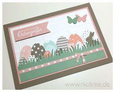 Stampin Up! Hasenparade, Geburtstagsstrauß, Schönste Zeit, Lawn Fawn Grassy Border, Memory Box Half a dozen eggs, Springtime bunnies