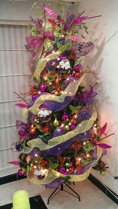 1000 images about pinos de navidad on pinterest navidad - Arbol de navidad decorado ...