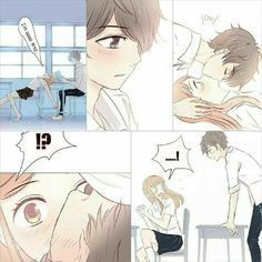 Name of manga :. I want to kiss you in that moment. Anime Couples Cuddling, Anime Couples Manga, Manga Anime, Cute Couple Comics, Cute Comics, Anime Comics, Anime Cosplay, Kawaii Anime, Couples Cosplay