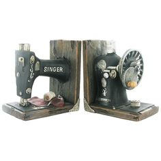 Singer Sewing Machine Shelf Tidy Book Ends – Prezents