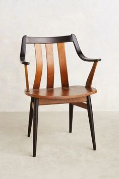 Inspiration for mid century chair reno: two-toned wood stain • Anthropologie Oresund Chair #anthrofave #anthropologie